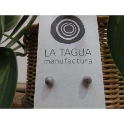 La Tagua Bopo Earrings beige