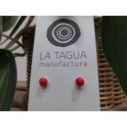 La Tagua Bopo Earrings rood