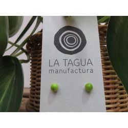 La Tagua Bopo Earrings licht groen