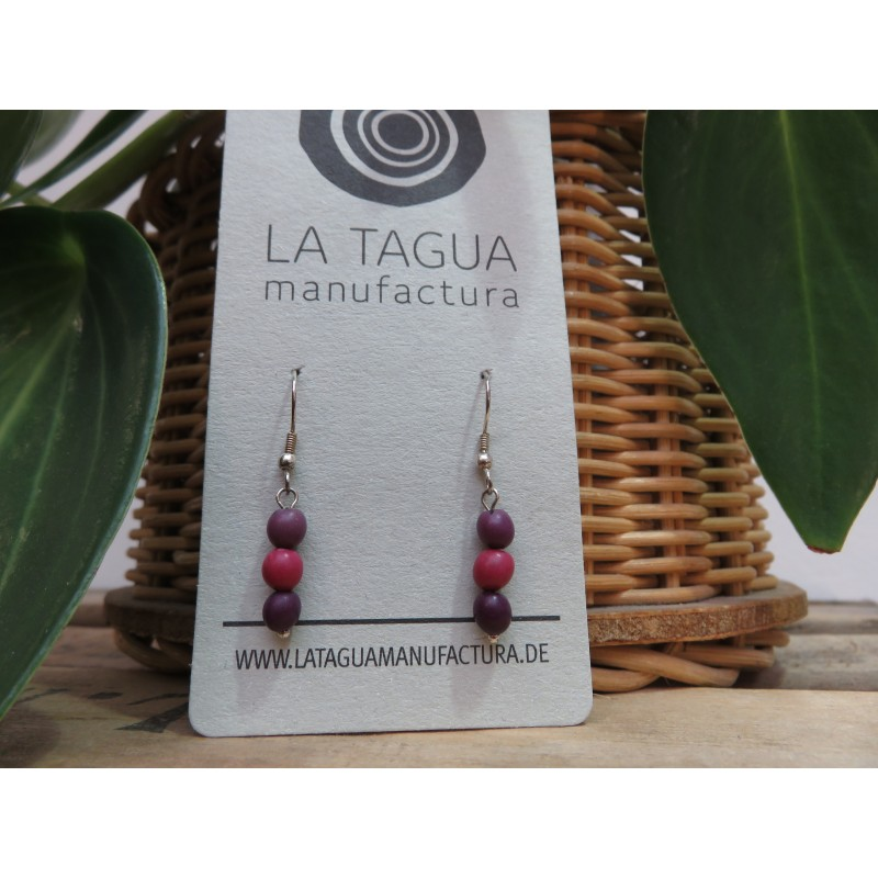 La Tagua Chiraret earrings paars