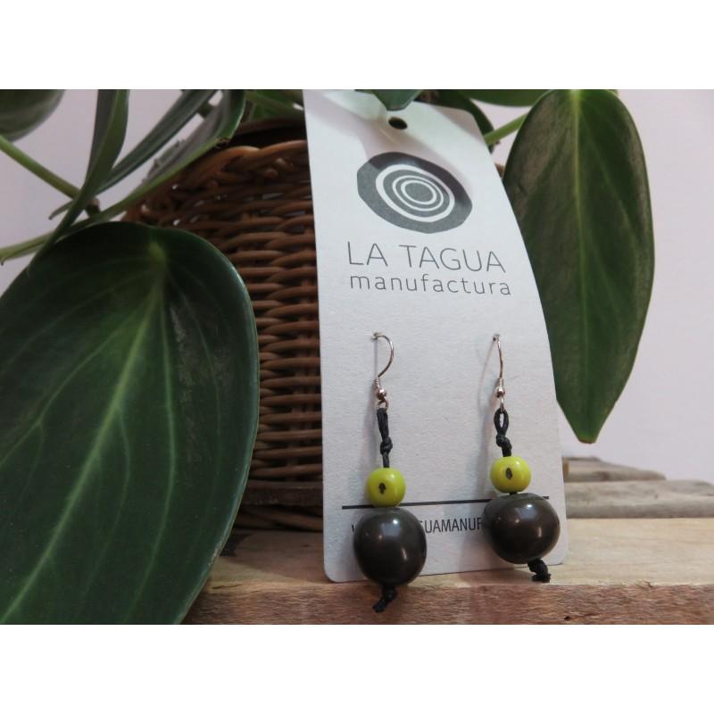 La Tagua Boliret earrings groen