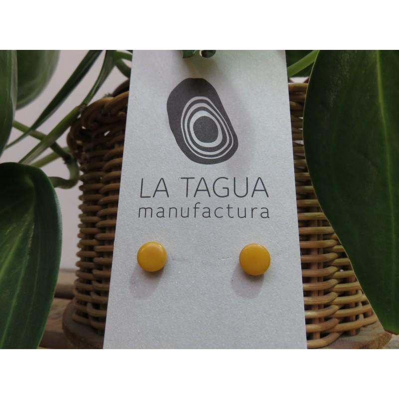 La Tagua Topo earrings geel