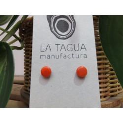 La Tagua Topo earrings oranje