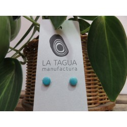 La Tagua Topo earrings lichtblauw