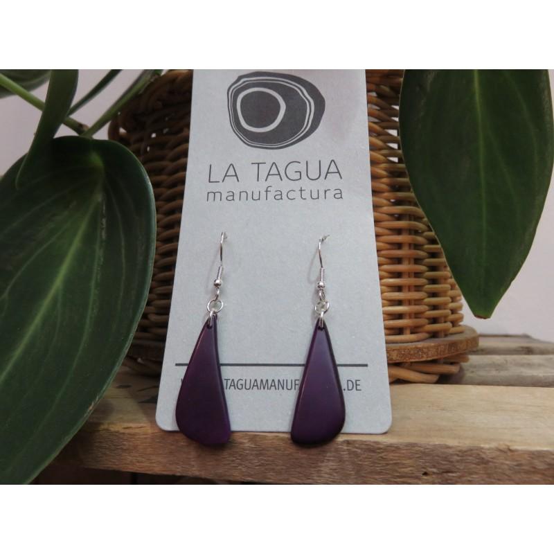 La Tagua Rakaret earrings paars