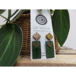 La Tagua Kogiret  Earrings groen