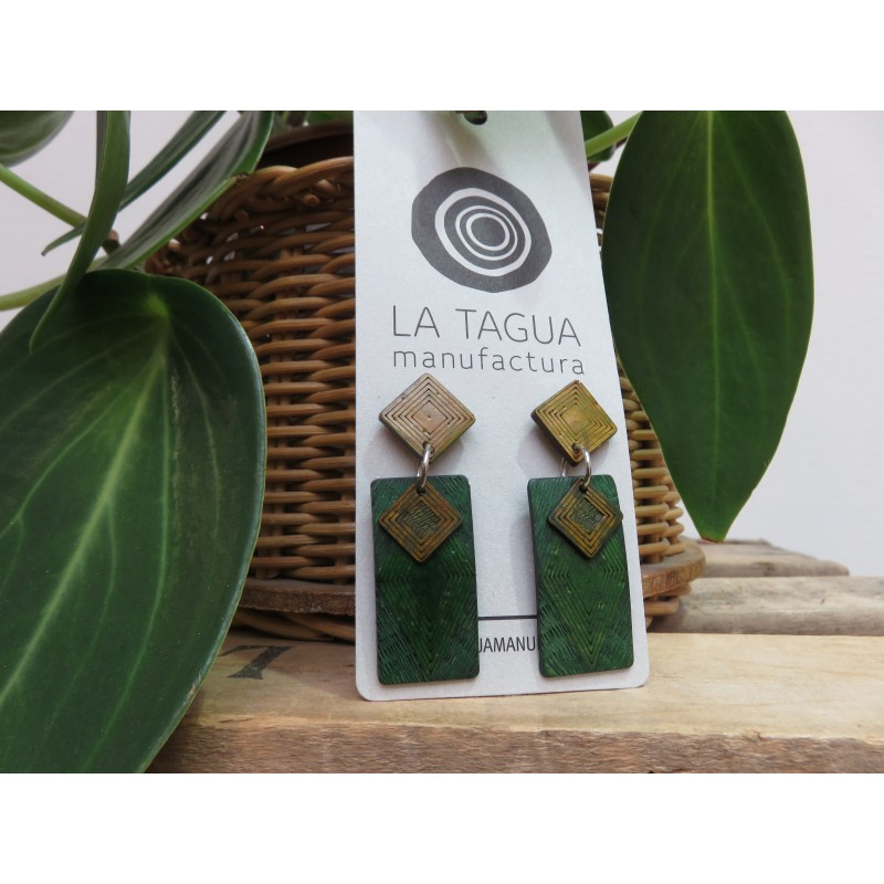 La Tagua Kogiret  Necklace groen