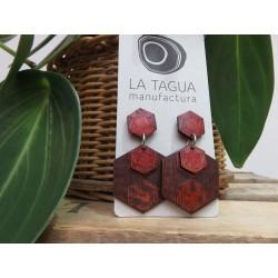La Tagua Kanaret  Earrings bruin