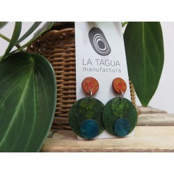 La Tagua Tayraret  Earrings groen