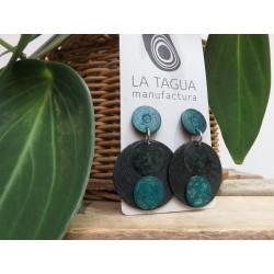 La Tagua Tayraret  Earrings  blauw