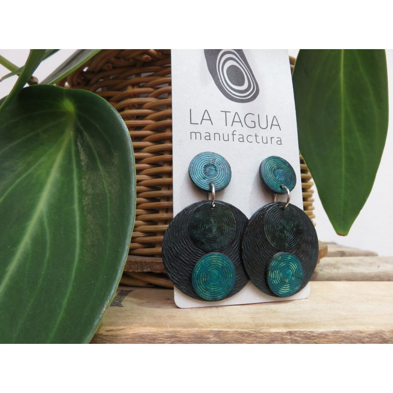 La Tagua Tayraret  Necklace blauw