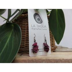 La Tagua Pikaret earrings paars