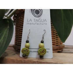 La Tagua Caracolita Orange Peel-Earings  groen