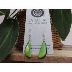La Tagua Rakaret earrings groen