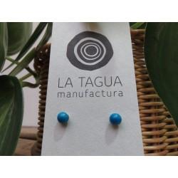 La Tagua Bopo Earrings blauw