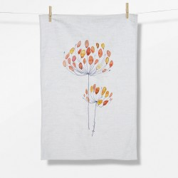 Greenbomb Plants Fine Plants Tea Towel white