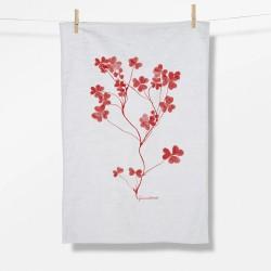 Greenbomb Plants Shamrock   Tea Towel white