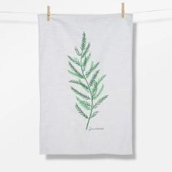 Greenbomb Plants Aspa  Tea Towel white