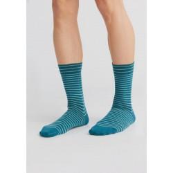 ALBERO Lange sokken Petrol-Vorstgroen