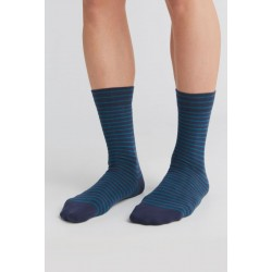 ALBERO Lange sokken Indigo-petrol