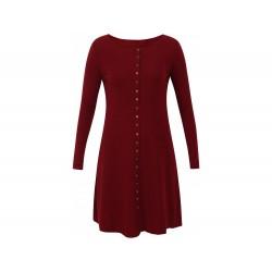 Jalfe Button Dress wool melange dark red/bordeaux