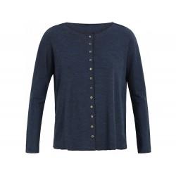 Jalfe Cardigan oversize wool petrol-black