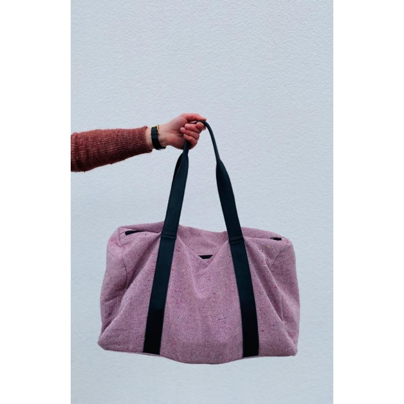 Be The Fibre John Bag Herringbone Red