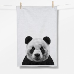 Greenbomb Animal Panda Tea Towel white