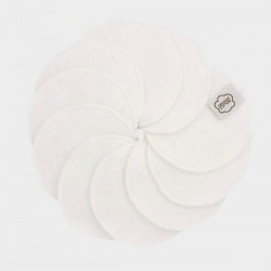 Imse Vimse Cleansing Pads White Stitches