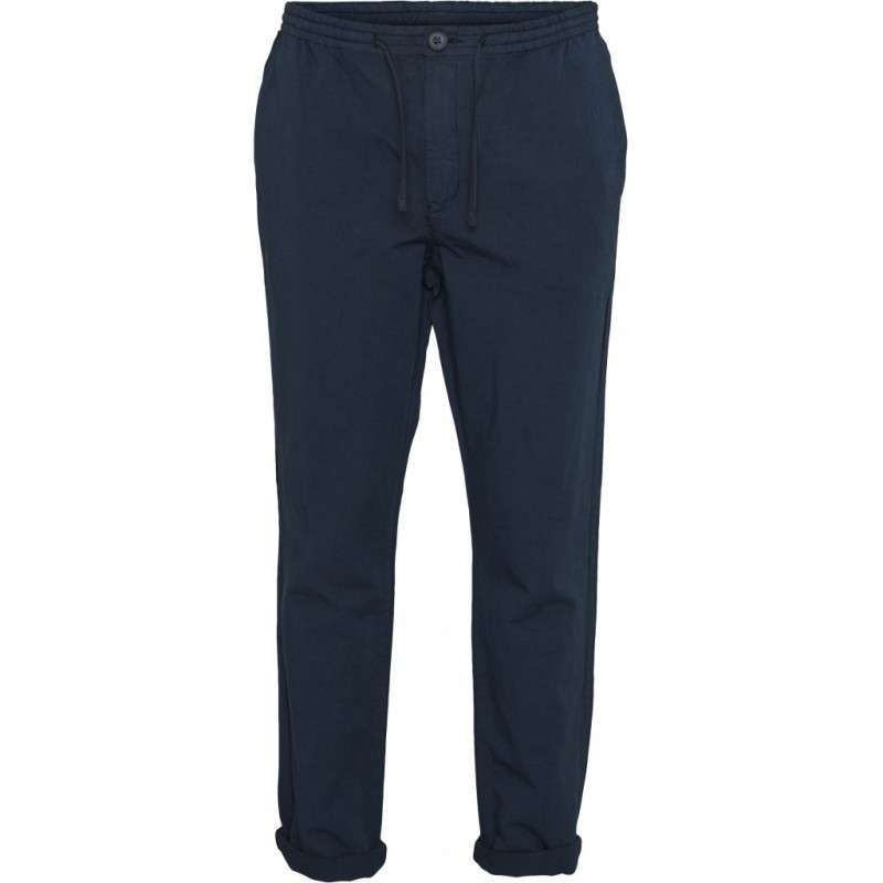 Knowledge Garment Dyed Chino Pants total eclipse
