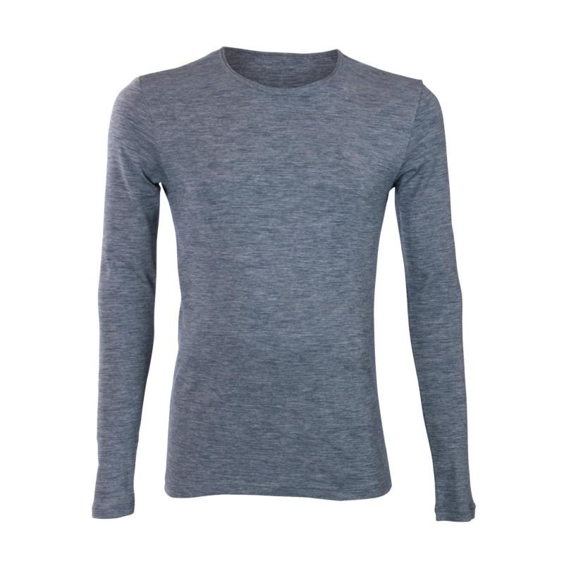 Living Crafts Langarm-Shirt saphire blue melange