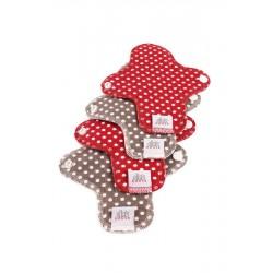 Ella's House Moon Pads Mini dots red 4 pcs