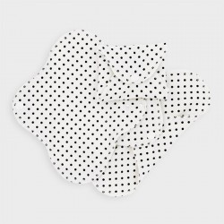 Imse Vimse Panty Liners black dots