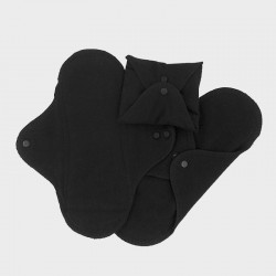 Imse Vimse Sanitary Pads Regular Black