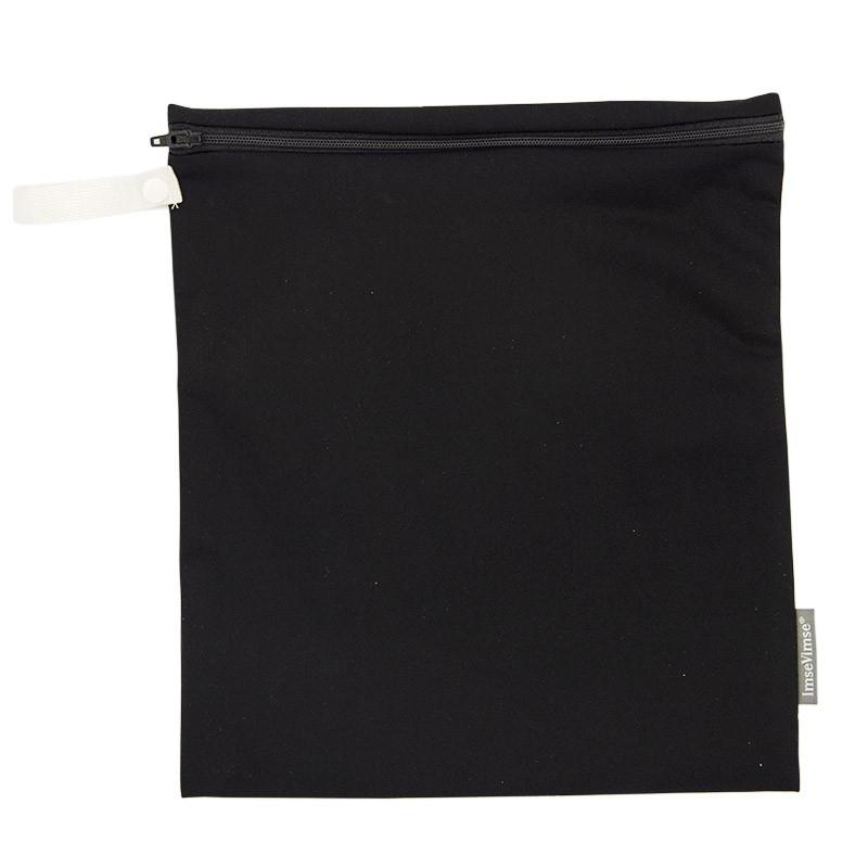Imse Vimse Wet Bag 28x26cm With Zipper  Black