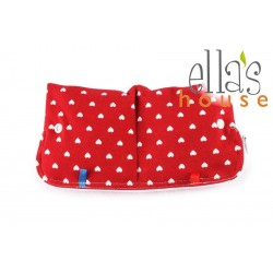 Ella's House Moon Pouch Hearts Red