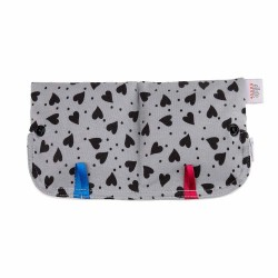 Ella's House Moon Pouch Hearts Grey