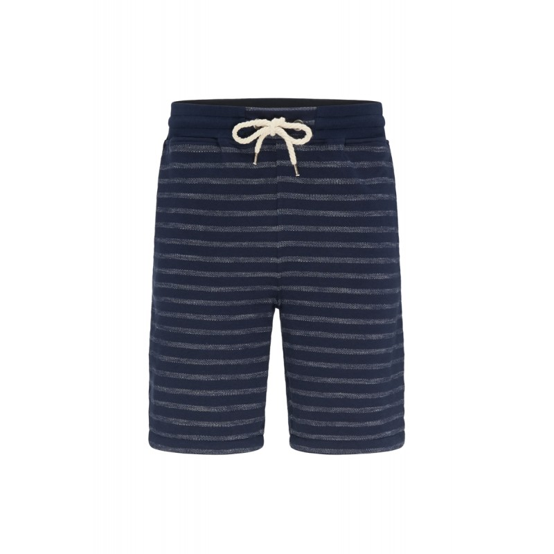 Recolution Männer Classic Sweat Shorts Stripes navy/white